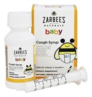 Zarbee's - Baby Cough Syrup Natural Grape Flavor - 2 oz.