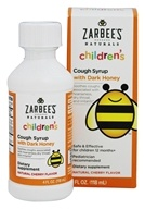 Zarbee's - Children's Cough Syrup with Dark Honey Natural Cherry Flavor - 4 oz.
