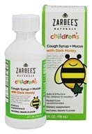 Zarbee's - Children's Cough Syrup + Mucus With Dark Honey Natural Grape Flavor - 4 oz.