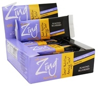 Zing Bars - 100% Natural Nutrition Bar Almond Blueberry - 1.76 oz.