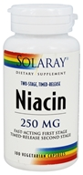 Solaray - Niacin Two-Stage, Timed-Release 250 mg. - 100 Vegetarian Capsules