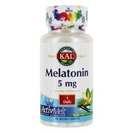 Kal - Melatonin ActivMelt Vanilla Mint 5 mg. - 90 Tablets