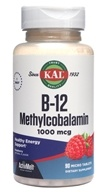Kal - B-12 Methylcobalamin ActivMelt Red Raspberry 1000 mcg. - 90 Tablets