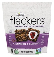 Doctor in the Kitchen - Flackers Flax Seed Crackers Cinnamon & Currants - 5 oz.