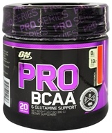 Optimum Nutrition - Pro BCAA Powder & Glutamine Support Fruit Punch - 13.7 oz.