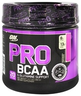 Optimum Nutrition - Pro BCAA Powder & Glutamine Support Raspberry Lemonade - 13.7 oz.