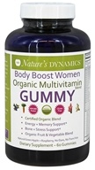 Nature's Dynamics - Body Boost Women Organic Multivitamin Whole Food Gummy Green Apple & Raspberry - 60 Gummies