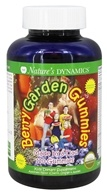 Nature's Dynamics - Berry Garden Gummies Whole Food Multivitamin Assorted Flavors Cherry, Orange, & Apple - 120 Gummies
