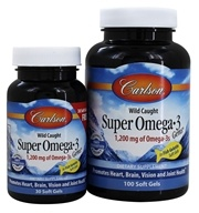 Carlson Labs - Super Omega-3 Gems in Fish Gelatin 500 mg. - 130 Softgels