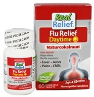 Homeolab USA - Real Relief Flu Daytime Naturcoksinum - 60 Chewable Tablets