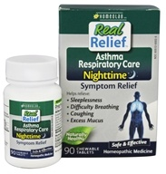 Homeolab USA - Real Relief Nighttime Asthma Respiratory Care - 90 Chewable Tablets
