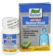 Homeolab USA - Real Relief Severe Hemorrhoid - 90 Chewable Tablets