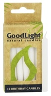 GoodLight Natural Candles - Birthday Candles Unscented White - 12 Pack