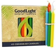 GoodLight Natural Candles - Chanukah Candles Multi-Color - 45 Pack