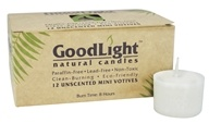 GoodLight Natural Candles - Mini Votives Unscented White - 12 Pack