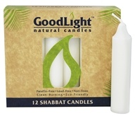 GoodLight Natural Candles - Shabbat Candles Unscented White - 12 Pack
