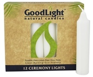 GoodLight Natural Candles - Ceremony Lights Unscented White - 12 Pack