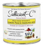 Sufficient-C - High Dose Vitamin C Drink Mix Lemon Peach Iced Tea - 135 Grams