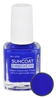 Suncoat - Polish & Peel Water-Based Nail Polish Lovely Lapis - 0.27 oz.