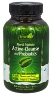 Irwin Naturals - Aloe & Triphala Active Cleanse and Probiotics - 60 Softgels