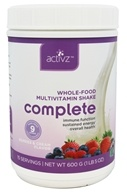 Activz - Whole Food Complete Multivitamin Shake Berries & Cream - 21 oz.