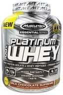 Muscletech Products - Platinum Essential Series 100% Whey Milk Chocolate Supreme - 5.03 lbs.