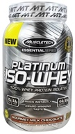 Muscletech Products - Platinum Essential Series 100% Iso-Whey Gourmet Milk Chocolate - 1.79 lbs.