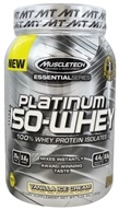 Muscletech Products - Platinum Essential Series 100% Iso-Whey Vanilla Ice Cream - 1.76 lbs.