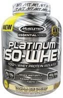 Muscletech Products - Platinum Essential Series 100% Iso-Whey Vanilla Ice Cream - 3.27 lbs.