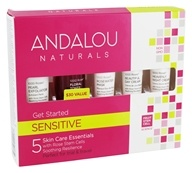 Andalou Naturals - Get Started Kit 1000 Roses for Delicate, Dry & Reactive Skin - 5 Piece(s)
