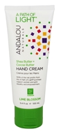 Andalou Naturals - A Path of Light Shea Butter + Coconut Water Hand Cream Lime Blossom - 3.4 oz.