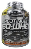 Muscletech Products - Platinum Essential Series 100% Iso-Whey Peanut Butter Chocolate Twist - 3.33 lbs.