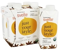 Cal Naturale - Svelte Vegan Organic Protein Shake 4 x 11 oz. RTD Spiced Chai - 4 Pack