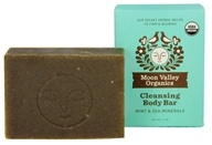 Moon Valley Organics - Cleansing Body Bar Mint & Sea Minerals - 4 oz.