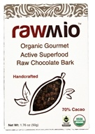 Rawmio - Organic Gourmet Raw Chocolate Bark Active Superfood - 2.2 oz.