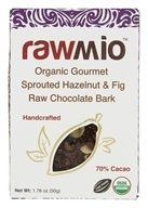 Rawmio - Organic Gourmet Raw Chocolate Bark Hazelnut & Fig - 2.2 oz.