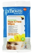 Dr. Brown's - Healthy Wipes Naturally Cleaning Nose & Face 0m+ Naturally Soothing with Calendula - 30 Wipe(s)