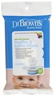Dr. Brown's - Healthy Wipes Naturally Cleaning Pacifier & Bottle Unscented - 30 Wipe(s)