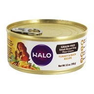 Halo Purely for Pets - Grain-Free Canned Dog Food For Small Breeds Turkey & Duck Recipe - 5.5 oz.