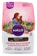 Halo Purely for Pets - Spot's Stew Grain-Free Healthy Weight Adult Cat Formula Whitefish & Salmon - 6 lbs.
