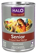 Halo Purely for Pets - Canned Dog Food For Seniors Ground Beef Recipe - 13.2 oz.