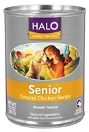 Halo Purely for Pets - Canned Dog Food For Seniors Ground Chicken Recipe - 13.2 oz.