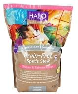 Halo Purely for Pets - Spot's Stew Grain-Free Healthy Weight Senior Cat Formula Chicken & Salmon Recipe - 6 lbs.