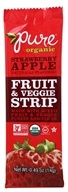 PureBar - Pure Organic Fruit & Veggie Strip Strawberry Apple - 0.49 oz.