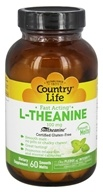 Country Life - L-Theanine Fast Acting Smooth Melts 100 mg. - 60 Tablet(s)