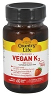 Country Life - Vegan K2 Smooth Melts 500 mcg. - 60 Tablet(s)