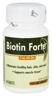 Enzymatic Therapy - Biotin Forte With Zinc 3 mg. - 60 Tablets