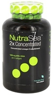 Ascenta Health - NutraSea 2x Concentrated Omega-3 Supplement Fresh Mint Flavor - 100 Softgels