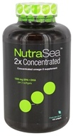 Ascenta Health - NutraSea 2x Concentrated Omega-3 Supplement Fresh Mint Flavor - 150 Softgels