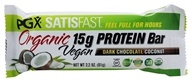 Natural Factors - PGX Satisfast Organic Vegan Protein Bar Dark Chocolate Coconut - 2.2 oz.